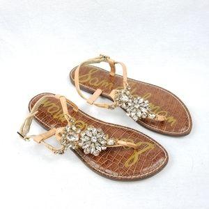 Sam Edelman Jew Embellished  Strappy Sandal